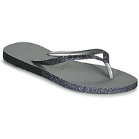 Schuhe Damen Zehensandalen Havaianas SLIM SPARKLE II Grau
