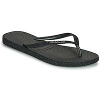 Schuhe Damen Zehensandalen Havaianas SLIM SPARKLE II Schwarz
