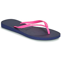 Schuhe Damen Zehensandalen Havaianas SLIM LOGO Marine