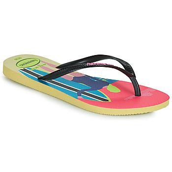 Schuhe Damen Zehensandalen Havaianas SLIM STYLE MIX Gelb