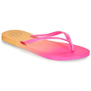 Schuhe Damen Zehensandalen Havaianas SLIM GRADIENT Rose / Gelb
