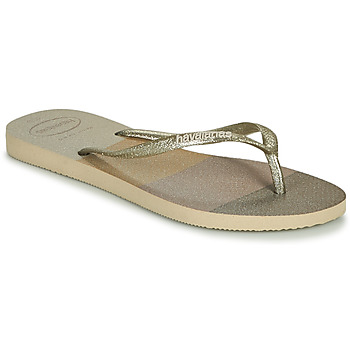 Schuhe Damen Zehensandalen Havaianas SLIM PALETTE GLOW Beige