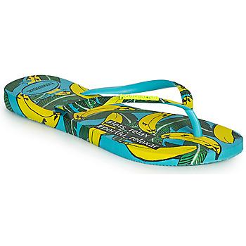 Schuhe Damen Zehensandalen Havaianas SLIM SUMMER Blau