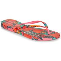 Schuhe Damen Zehensandalen Havaianas SLIM SUMMER Rose / Rot