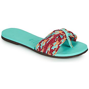 Schuhe Damen Zehensandalen Havaianas YOU ST TROPEZ MESH Blau