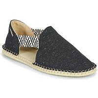 Schuhe Damen Leinen-Pantoletten mit gefloch Havaianas ESPADRILLE FRESH ECO Schwarz