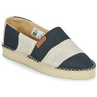 Schuhe Damen Leinen-Pantoletten mit gefloch Havaianas ESPADRILLE CLASSIC FLATFORM ECO Schwarz