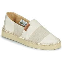 Schuhe Damen Leinen-Pantoletten mit gefloch Havaianas ESPADRILLE CLASSIC FLATFORM ECO Beige