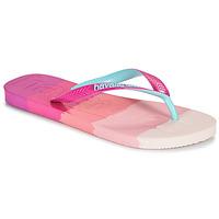 Schuhe Damen Zehensandalen Havaianas TOP LOGOMANIA MULTICOLOR Rose