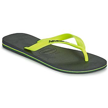 Schuhe Herren Zehensandalen Havaianas BRASIL LOGO Grau