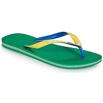 Schuhe Herren Zehensandalen Havaianas BRASIL MIX Grün