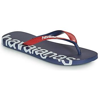 Schuhe Zehensandalen Havaianas TOP LOGOMANIA HIGHTECH Blau