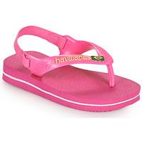 Schuhe Mädchen Zehensandalen Havaianas BABY BRASIL LOGO II Rose