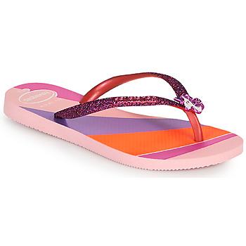 Schuhe Mädchen Zehensandalen Havaianas KIDS SLIM GLITTER II Rose