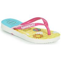 Schuhe Mädchen Zehensandalen Havaianas KIDS SLIM HELLO KITTY Weiss