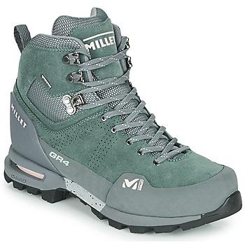 Schuhe Damen Wanderschuhe Millet GR4 GORETEX Grün / Schwarz