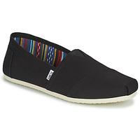 Schuhe Herren Leinen-Pantoletten mit gefloch Toms CORE Schwarz