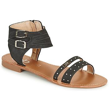 Schuhe Damen Sandalen / Sandaletten Les Petites Bombes BELIZE Schwarz