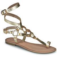 Schuhe Damen Sandalen / Sandaletten Les Petites Bombes BLEONA Gold