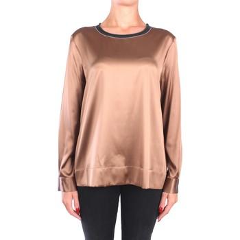 Kleidung Damen Tops / Blusen Peserico S06655 C2372 Blusen Damen Bronze Bronze