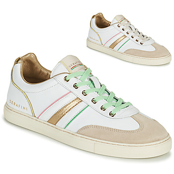Schuhe Damen Sneaker Low Serafini COURT Weiss / Gold
