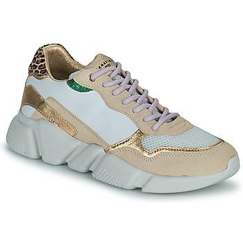 Schuhe Damen Sneaker Low Serafini OREGON Weiss / Gold