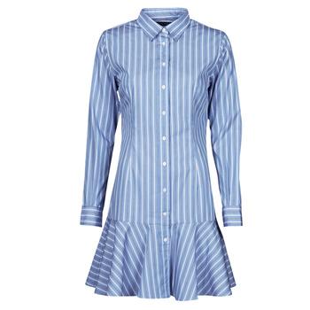 Kleidung Damen Kurze Kleider Lauren Ralph Lauren TRIELLA Blau / Weiss
