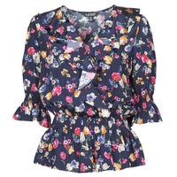 Kleidung Damen Hemden Lauren Ralph Lauren HELZIRA Blau / Multicolor