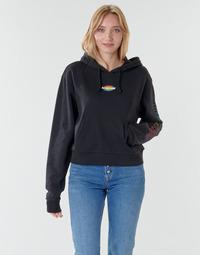 Kleidung Damen Sweatshirts Vans WM OVAL TEEN HOODIE Schwarz