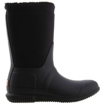 Schuhe Damen Gummistiefel Hunter Original Insulated Roll Top Sherpa Boots Schwarz
