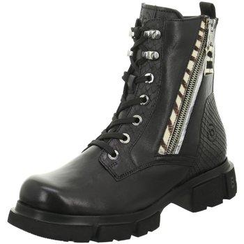 Schuhe Damen Stiefel Bugatti Stiefeletten Fabella black/animal 411-A0W31-4019-1082 schwarz