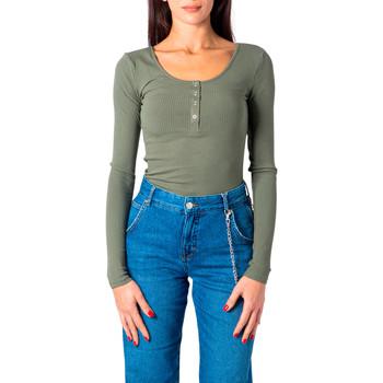 Kleidung Damen Langarmshirts Pieces 17101437 Verde