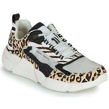 Schuhe Damen Sneaker Low Skechers BLOCK - WEST Beige