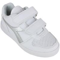 Schuhe Mädchen Sneaker Low Diadora playground ps girl c0516 Silbern