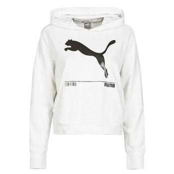 Kleidung Damen Sweatshirts Puma NUTILITY HOODY Weiss