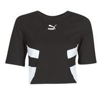 Kleidung Damen T-Shirts Puma RETRO FROPnTOP Schwarz