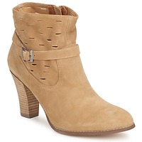 Schuhe Damen Low Boots One Step VIRNA Stein / Kaffee