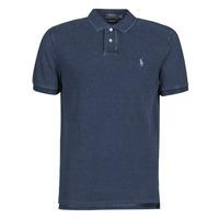 Kleidung Herren Polohemden Polo Ralph Lauren POLO AJUSTE DROIT EN COTON BASIC Blau