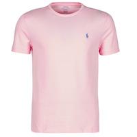 Kleidung Herren T-Shirts Polo Ralph Lauren T-SHIRT AJUSTE COL ROND EN COTON LOGO PONY PLAYER Rose