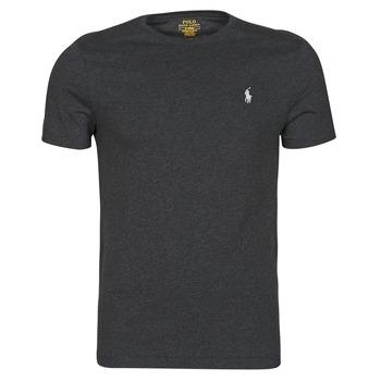 Kleidung Herren T-Shirts Polo Ralph Lauren T-SHIRT AJUSTE COL ROND EN COTON LOGO PONY PLAYER Schwarz