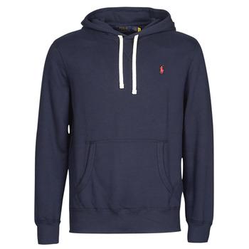Kleidung Herren Sweatshirts Polo Ralph Lauren SWEAT A CAPUCHE MOLTONE EN COTON LOGO PONY PLAYER Blau