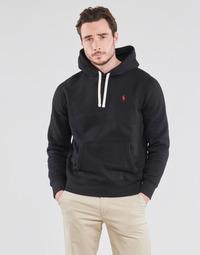 Kleidung Herren Sweatshirts Polo Ralph Lauren SWEAT A CAPUCHE MOLTONE EN COTON LOGO PONY PLAYER Schwarz