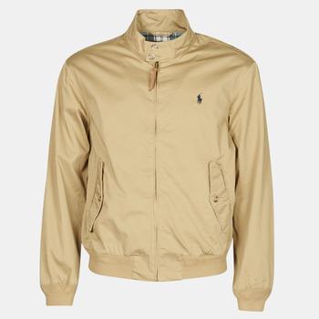 Kleidung Herren Jacken Polo Ralph Lauren BLOUSON BARACUDA COTON DOUBLE LOGO PONY PLAYER Beige