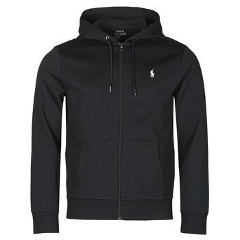 Kleidung Herren Sweatshirts Polo Ralph Lauren SWEATSHIRT A CAPUCHE ZIPPE EN JOGGING DOUBLE KNIT TECH LOGO PONY Schwarz