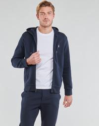 Kleidung Herren Sweatshirts Polo Ralph Lauren SWEATSHIRT A CAPUCHE ZIPPE EN JOGGING DOUBLE KNIT TECH LOGO PONY Marine