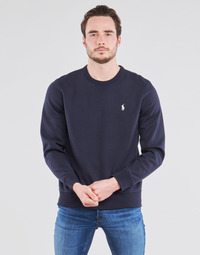 Kleidung Herren Sweatshirts Polo Ralph Lauren SWEATSHIRT COL ROND EN JOGGING DOUBLE KNIT TECH LOGO PONY PLAYER Blau / Marine