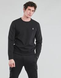 Kleidung Herren Sweatshirts Polo Ralph Lauren SWEATSHIRT COL ROND EN JOGGING DOUBLE KNIT TECH LOGO PONY PLAYER Schwarz