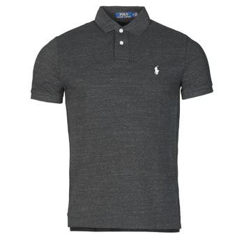 Kleidung Herren Polohemden Polo Ralph Lauren POLO AJUSTE DROIT EN COTON BASIC MESH LOGO PONY PLAYER Schwarz