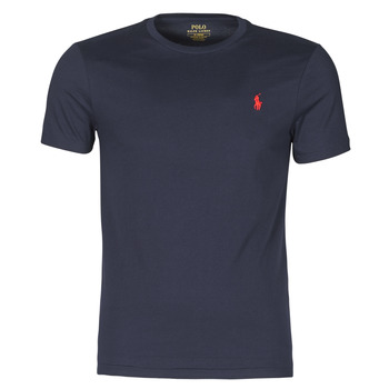Kleidung Herren T-Shirts Polo Ralph Lauren T-SHIRT AJUSTE COL ROND EN COTON LOGO PONY PLAYER Marine