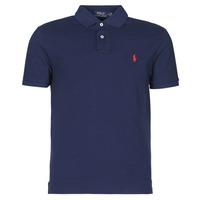 Kleidung Herren Polohemden Polo Ralph Lauren POLO AJUSTE DROIT EN COTON BASIC MESH LOGO PONY PLAYER Marine